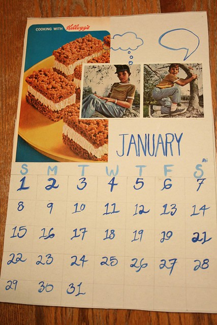 "January Calendar ""Thoughts and Treats"""