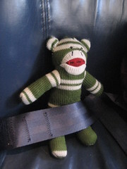 Sock Monkey Gets His Own Seat