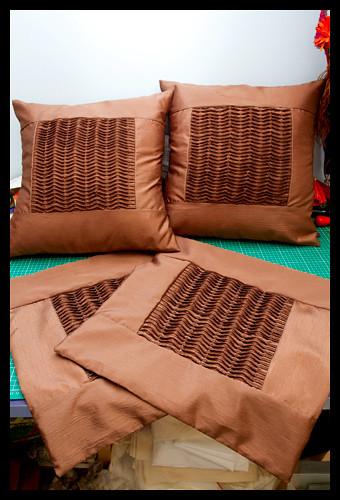 Gran's Ruffled Cushions