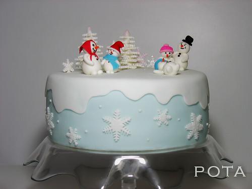 gateau bonhomme de neige torta snesko belic