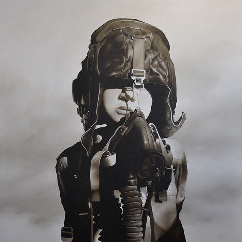 michael-peck_-fighter-pilot-1_2011_198cm-x-198cm_-oil-on-linen