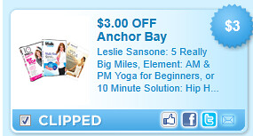 Leslie Sansone: 5 Really Big Miles, Element: Am & Pm Yoga For Beginners, Or 10 Minute Solution: Hip Hop Dance Mix On Dvd Coupon