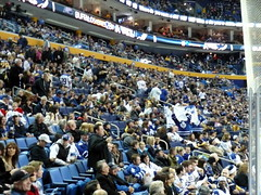 The crowd: Tons of Leafs fans!