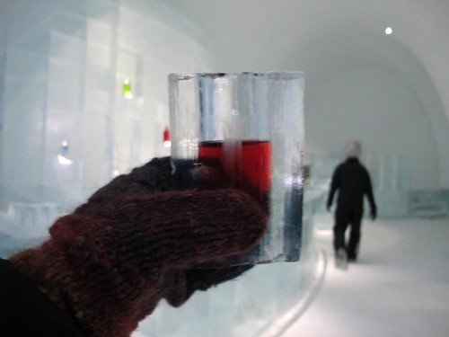 Martini in Ice Glass, Icebar, Ice Hotel, Jukkasjärvi