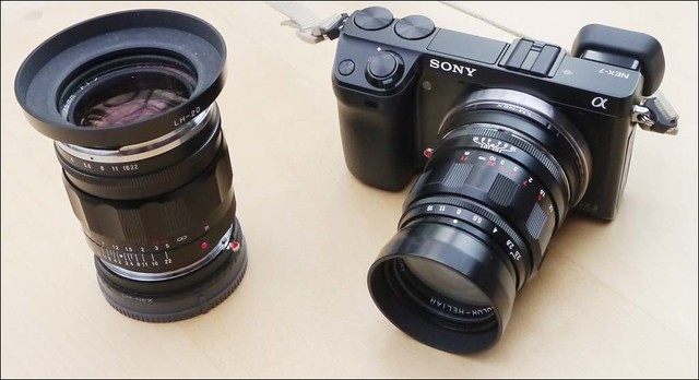 Sony NEX-7 Voigtlander 35mm f/1.2 Nokton and 75mm f/2.5 Heliar lenses
