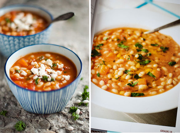 Fasolada. Greek Bean Soup.