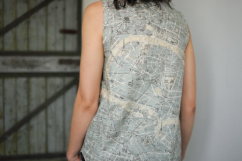 WIKSTEN TANK IN PARIS MAP FABRIC Make Something - Paris map fabric
