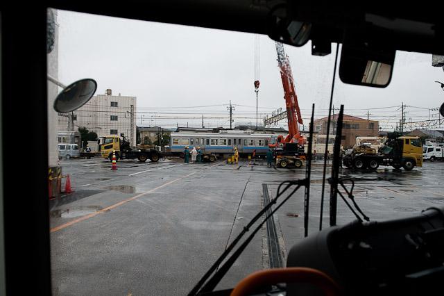 京王電鉄井の頭線 3000系 3028F クハ3728-デハ3028 搬出