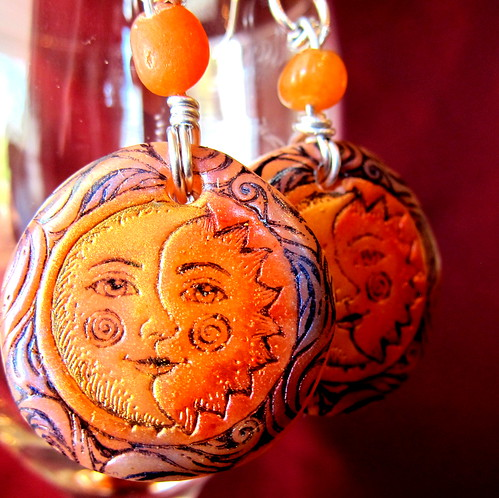 Sun and Moon earrings 2