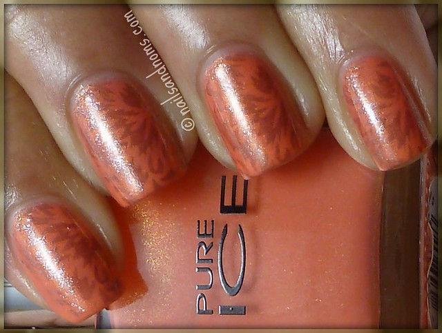 Pure Ice Twinkle & OPI Lucerne-Tainly Look Marvelous w/ Red Angel RA-112 Stamp