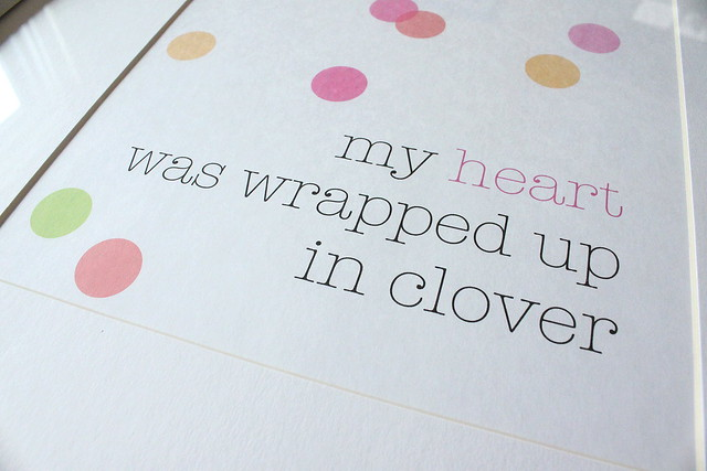 wrapped up in clover - close up