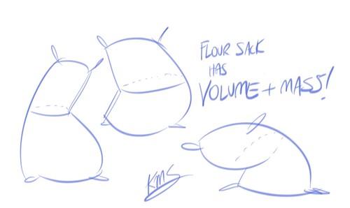 Flour sack mass
