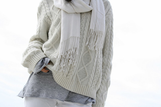 total white casual look