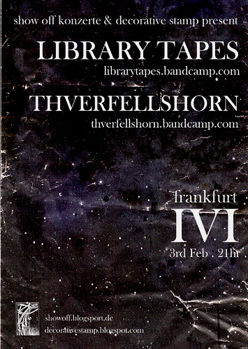 library tapes - thverfellshorn - ivi show 02-02-11 flyer - front_web