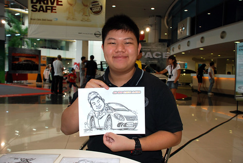 Caricature live sketching for Tan Chong Nissan Motor Almera Soft Launch - Day 3 - 17