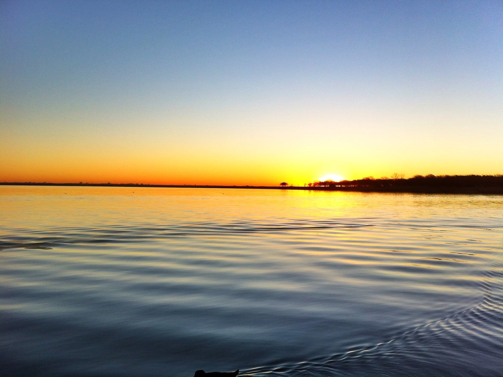 Sunrise at Lake Lewisville, TX