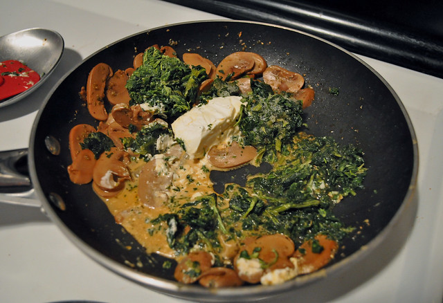Creamy Spinach & Mushroom Pasta