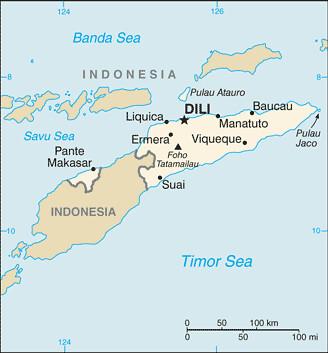 carte Timor oriental