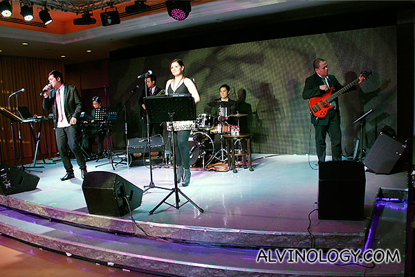 Live band performance