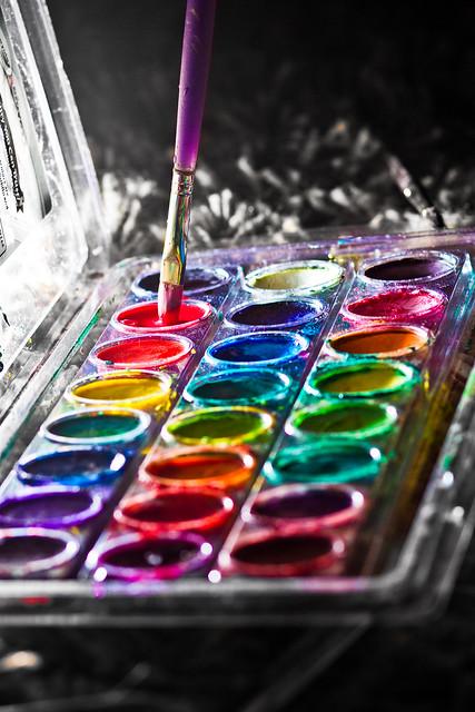 paint pallet pigment color
