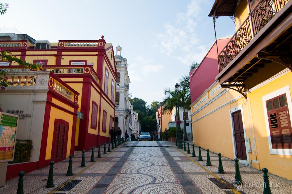 Street of Macau in St Lazarus Quarter