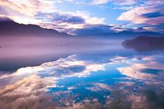 [フリー画像素材] 自然風景, 河川・湖, 空, 反射・鏡像, 風景 - 台湾 ID:201202021200