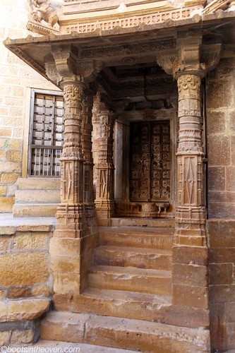 Typical and beautiful Jaisalmer entryway