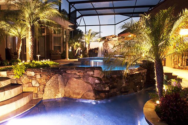 outdoor landscape pool lighting sarasota bradenton florida