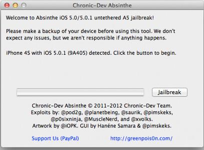 Absinthe - iPhone 4S, iPad 2 Jailbreak