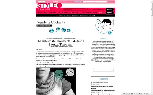 PINKRAIN interview on STYLE.IT - Vendetta Uncinetta by Pinkrain Indie Design