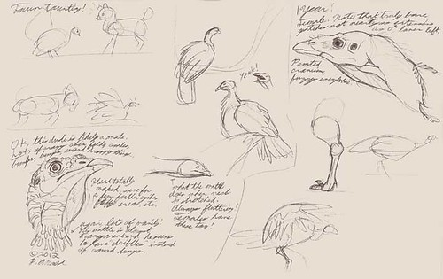 """1.21.12 - """"My Life as a Turkey"""" sketches"""