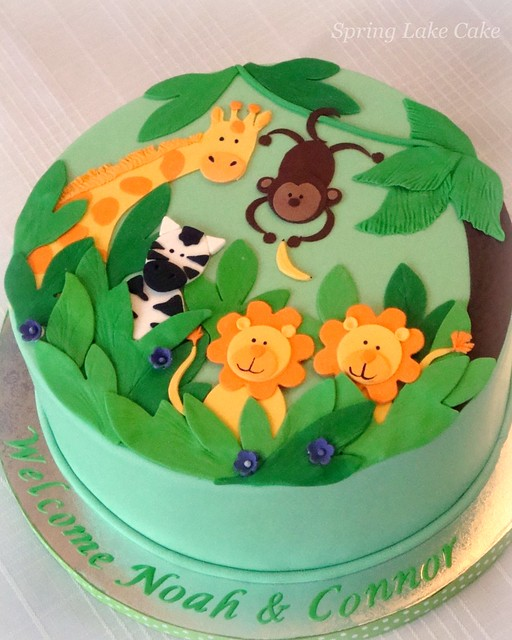 jungle baby shower cake baby shower cake for twin boys flickr