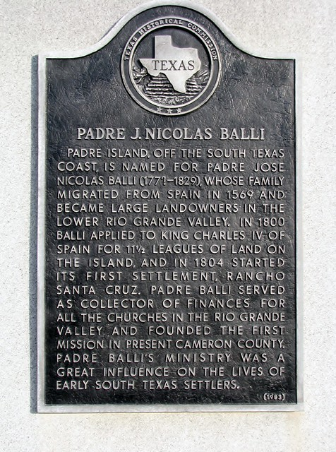 padre island jose nicolas balli Padre island: padre island, barrier island, 113 miles (182 km) long and up to 3 miles (5 km) wide, lying in the gulf of mexico along the southeastern coast of texas, us.
