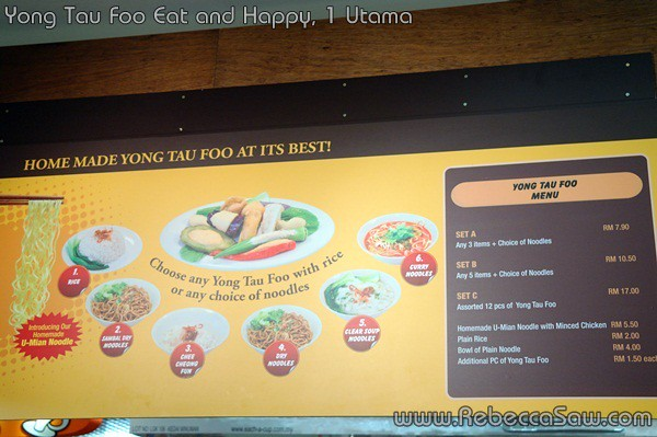 yong tau foo eat and happy, 1 Utama-3