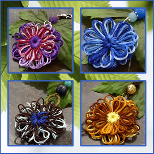 Flower bag charms