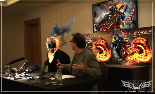The Establishing Shot: Nicolas Cage at The Ghost Rider: Spirit of Vengeance Press Conference - London by Craig Grobler