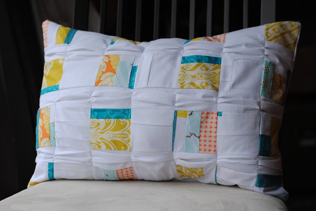 Patchwork Pleated Pillow