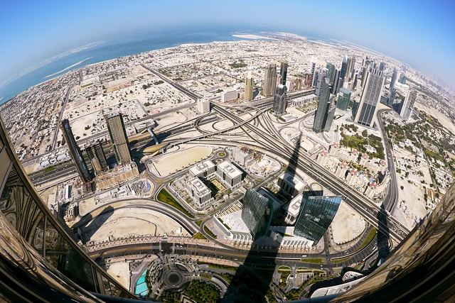 The NW view of Dubai from the Burj Khalifa