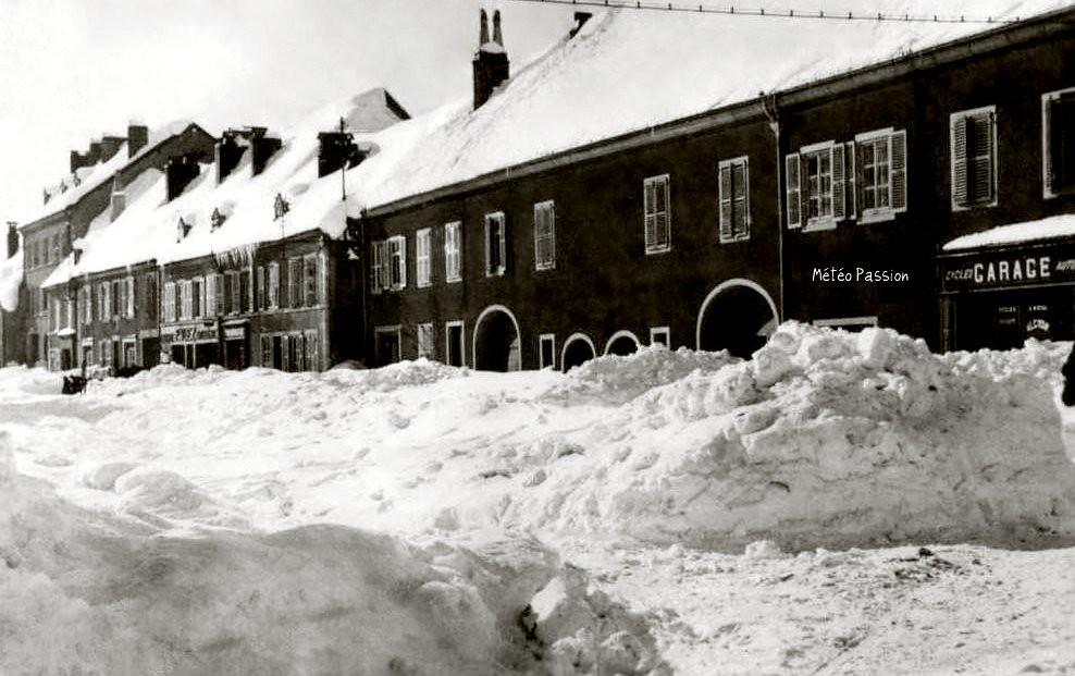 Mouthe, la Petite Sibérie française, durant l'hiver 1941-1942 météopassion
