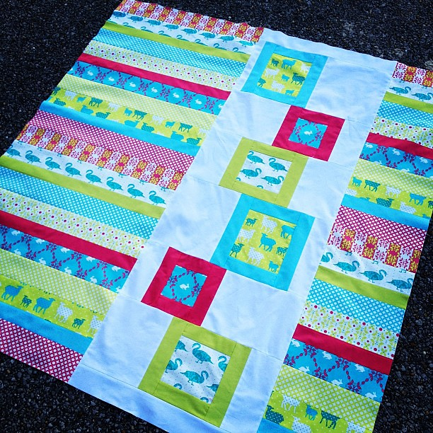 Modern Whimsy quilt top complete