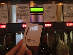 I love this wine bar. You put credits on a card then go to automated machines for your wine!