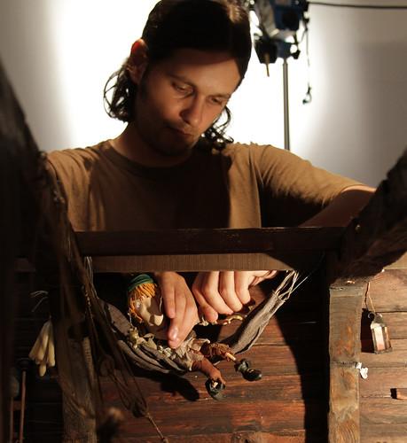 Making of Selkirk - Santiago Hermida animando interior del barco