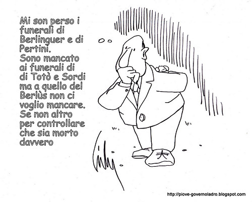 Berlusconi diserta il funerale di Scalfaro by Livio Bonino
