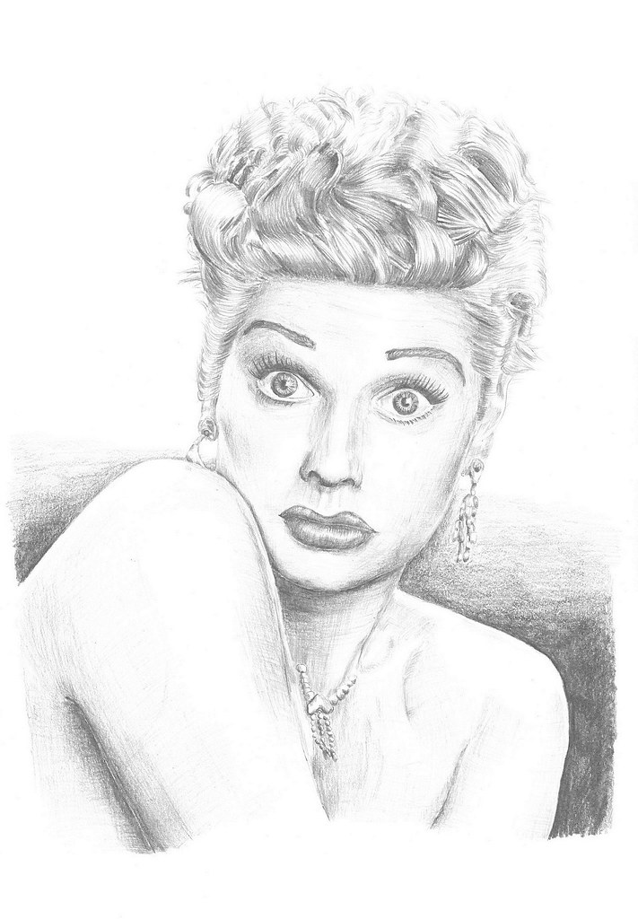 lucille ball coloring pages | Pencil portrait of Lucille Ball by http://Pencil-pictures ...