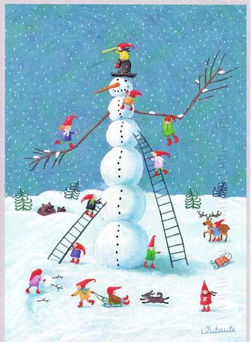 Snowman by Lina Zutaute