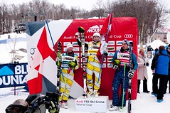 Brady Leman and Chris Del Bosco take first and second at the ski cross World Cup in Blue Mountain.