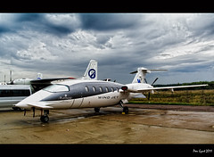 Italian Turboprop Aircraft Piaggio P.180 Avanti. MAKS 2011 Airshow. Moscow.