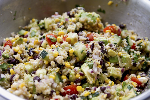 grilled corn avocado quinoa salad