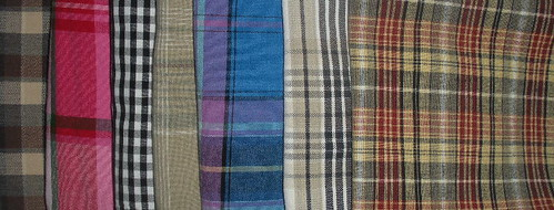 Cotton plaids, ready to use