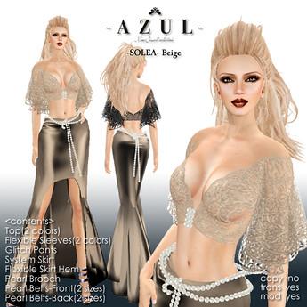 -AZUL- Solea/Beige, 800 lindens by Cherokeeh Asteria